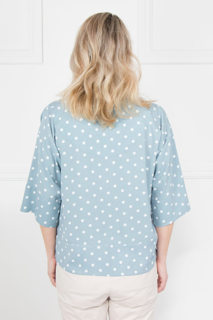 Grey Polka Dot Top - desray.co.za