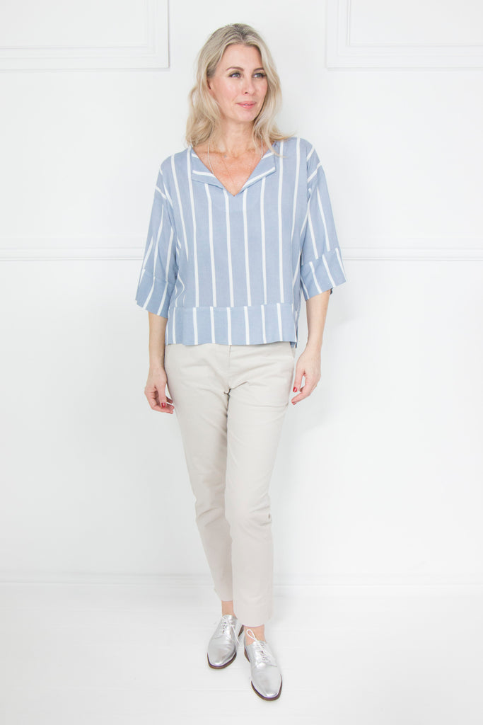 Blue Stripe Top - desray.co.za