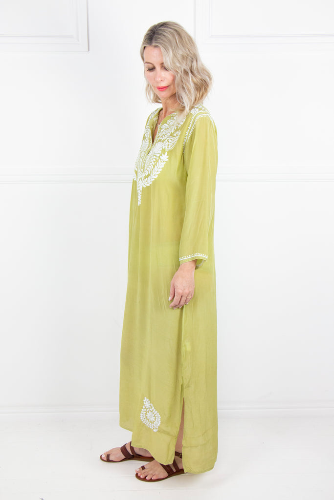 Olive Long Kaftan - desray.co.za
