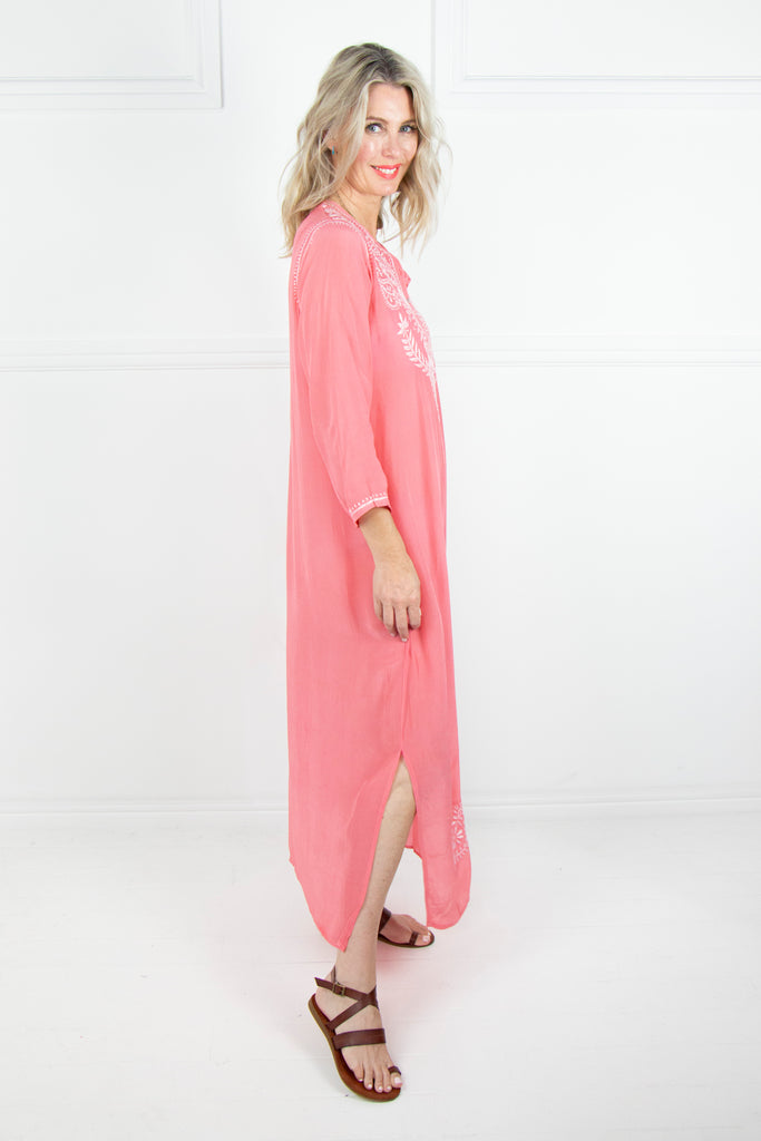 Watermelon Long  Kaftan - desray.co.za
