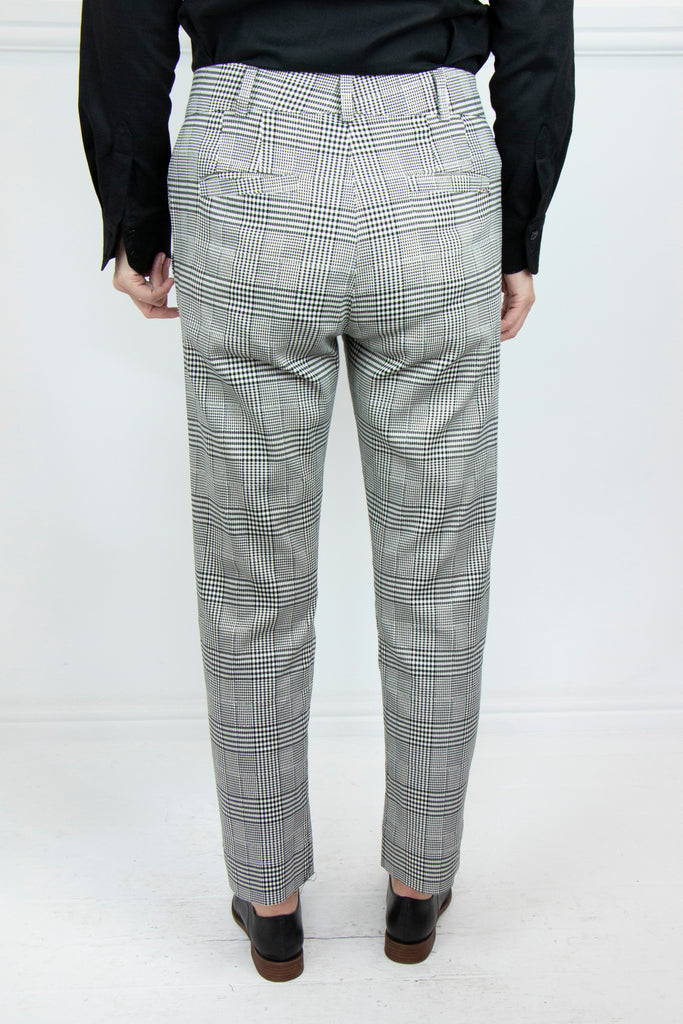 Checked Highwaisted Verna Pants - desray.co.za