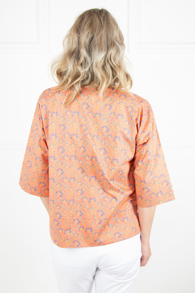 Peach Floral Top - desray.co.za