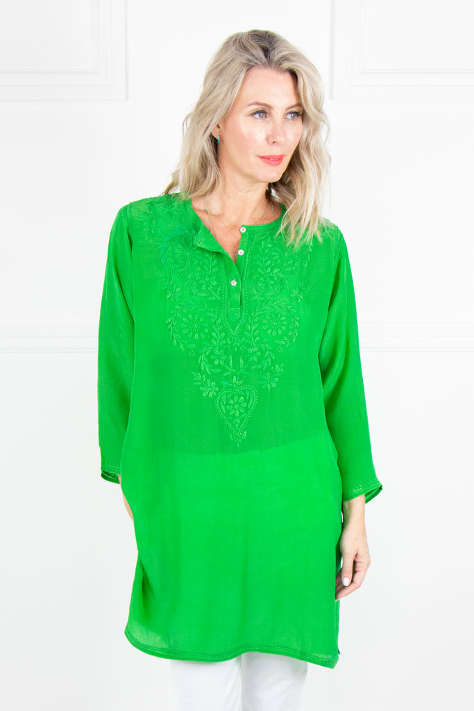Green Kaftan Tunic - desray.co.za