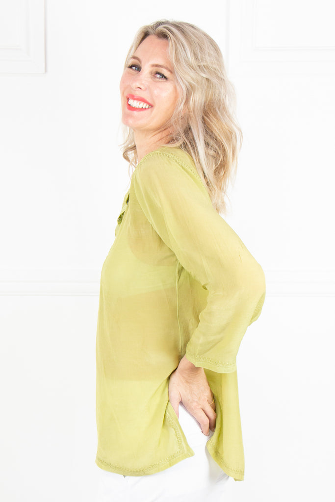 Olive Kaftan Top - desray.co.za