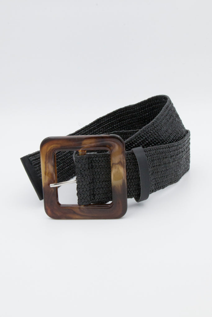 Black Broad Buckle Belt