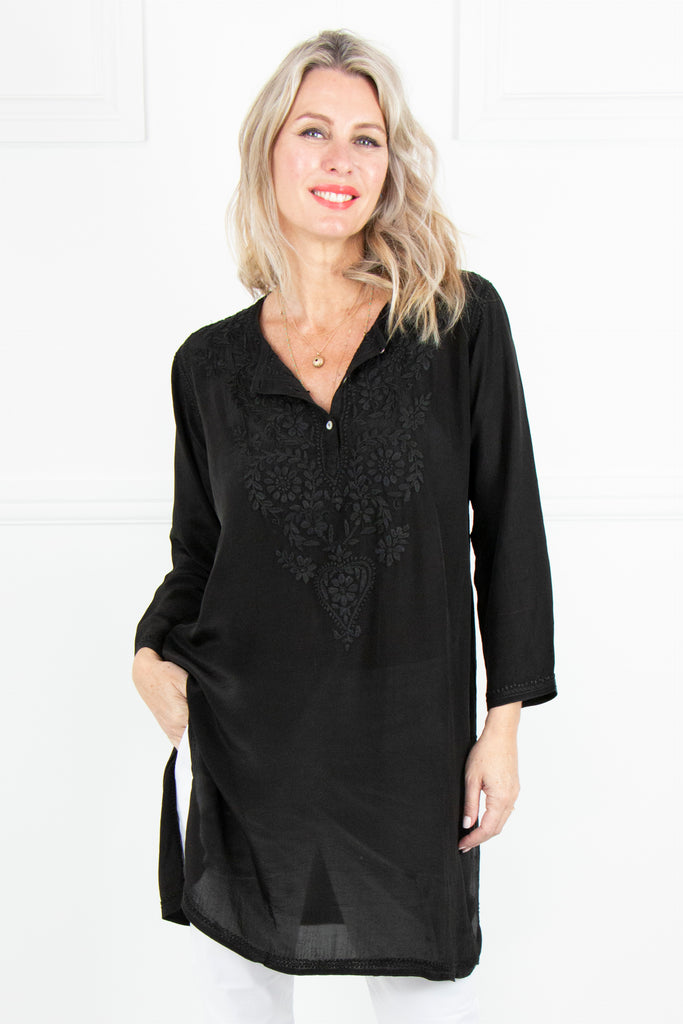 Black Kaftan Tunic - desray.co.za