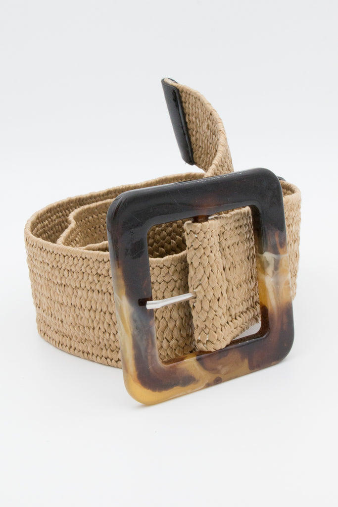 Tan Broad Buckle Belt