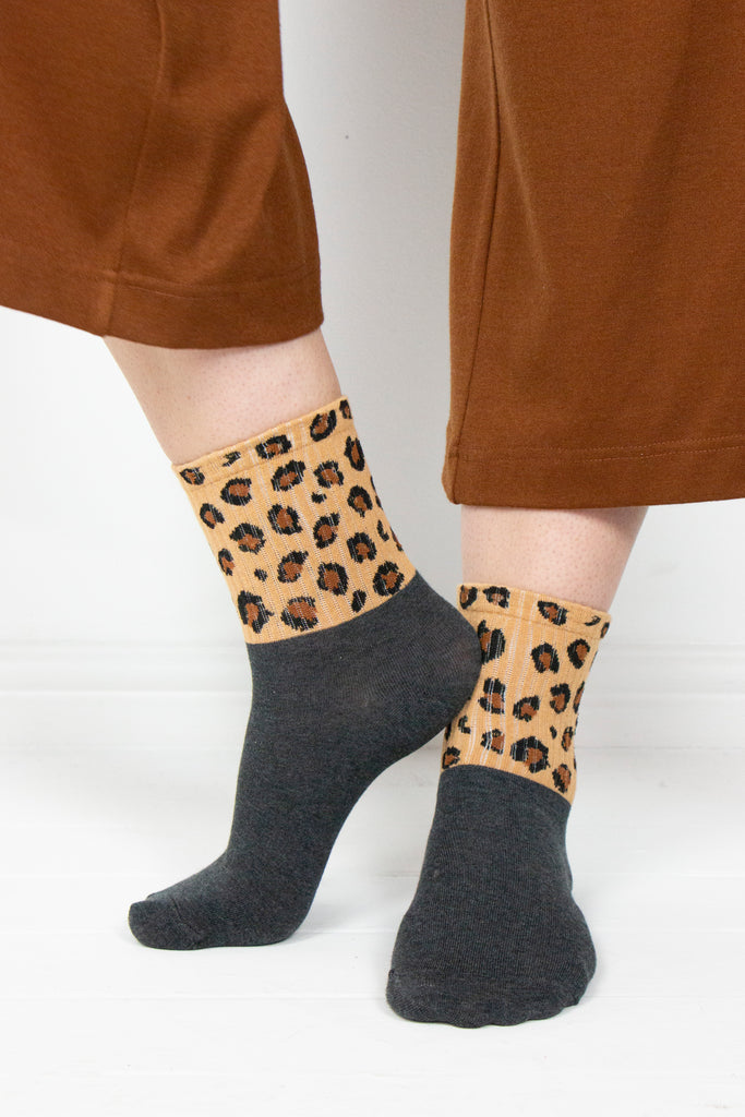 Tan Animal Socks