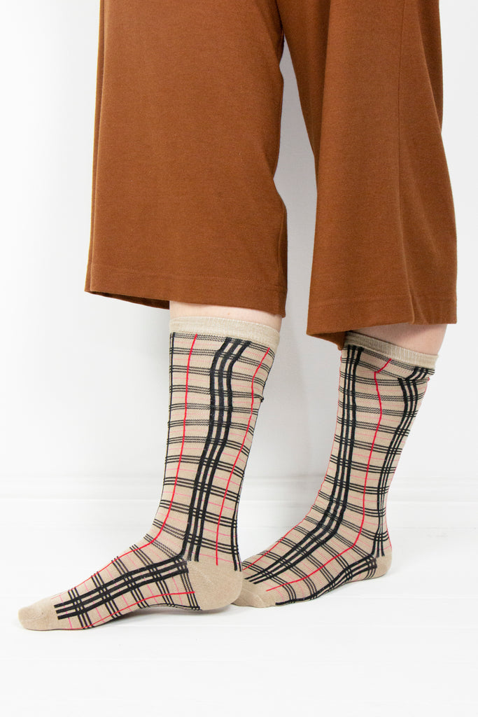 Tan Burberry Socks