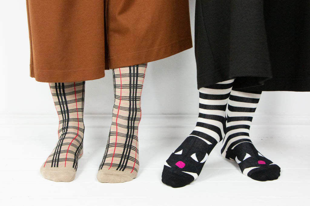 Black Stripe Cat Socks