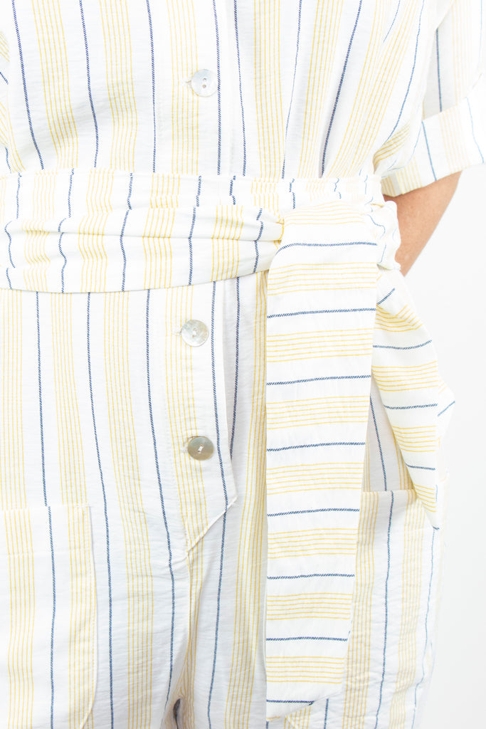 Yellow Stripe Jumpsuit - desray.co.za