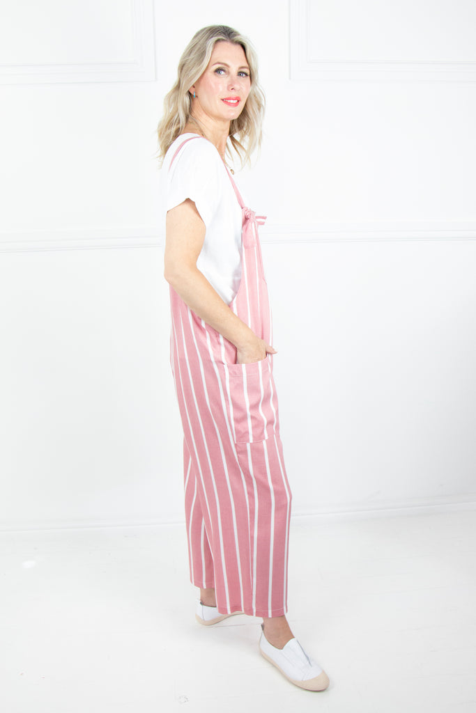 Red Stripe Dungarees - desray.co.za