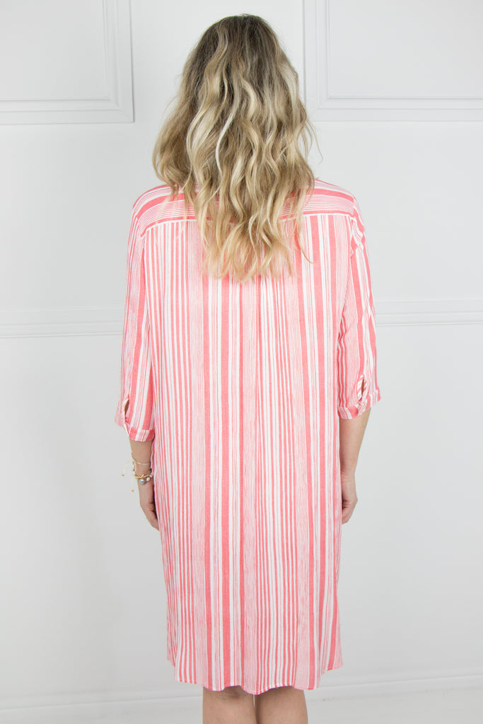 Orange Stripe Kaftan - desray.co.za