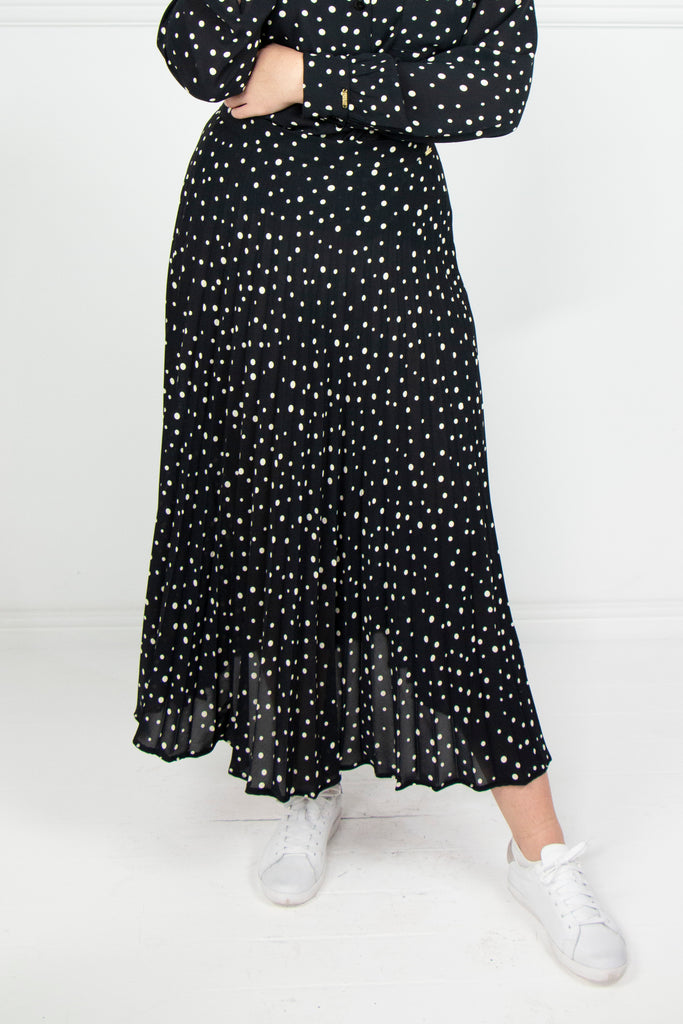 Spot Sunray Pleated Skirt - desray.co.za