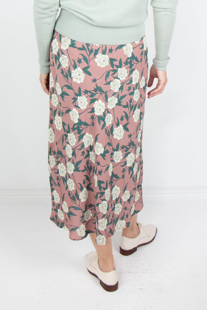 Floral Bias Cut Skirt - desray.co.za