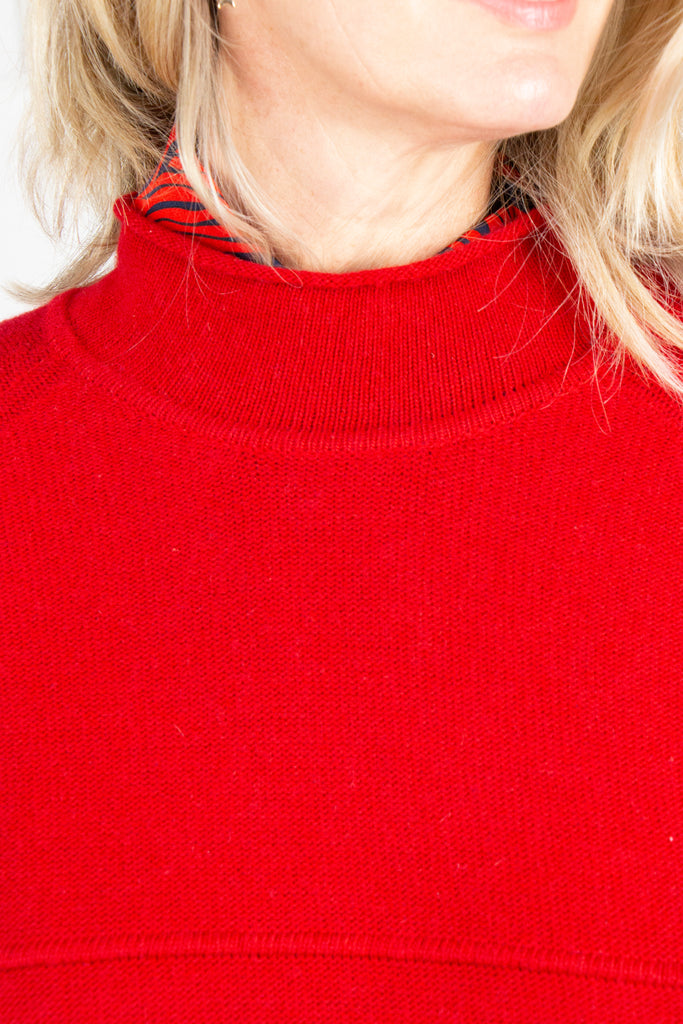 Red Cropped Pullover - desray.co.za