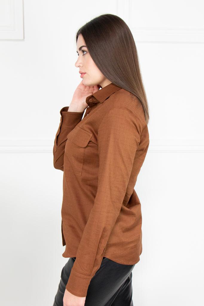 Brown Classic Shirt - desray.co.za