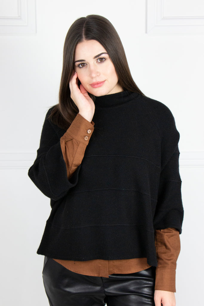 Black Cropped Pullover - desray.co.za