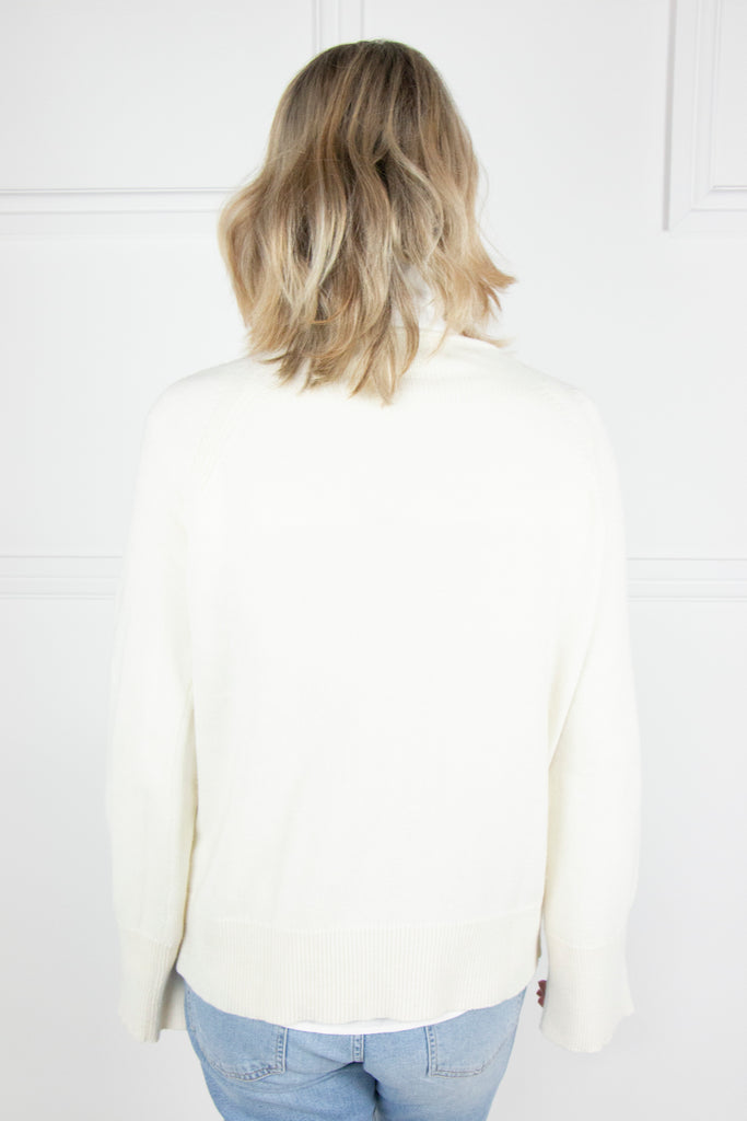 Cream Split Sleeve Pullover - desray.co.za