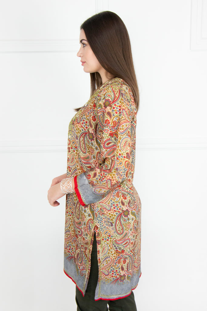 Multi Printed Kaftan Tunic - desray.co.za