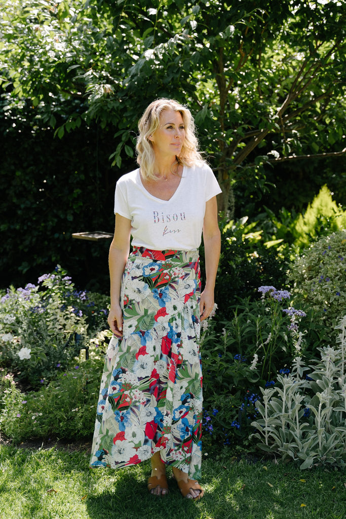Floral Wrap Skirt - desray.co.za