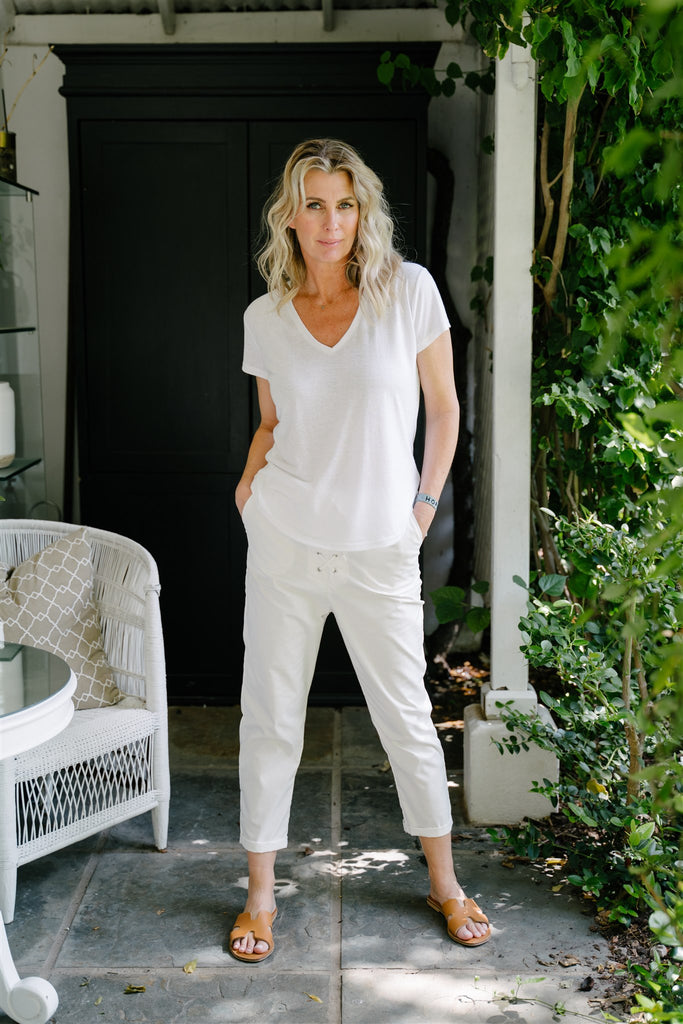 White Eyelet Pants - desray.co.za