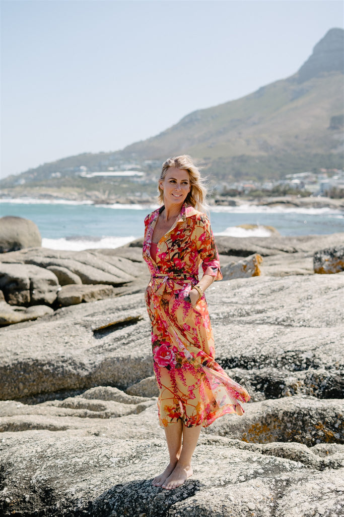 Floral Vintage Valentine Dress - desray.co.za