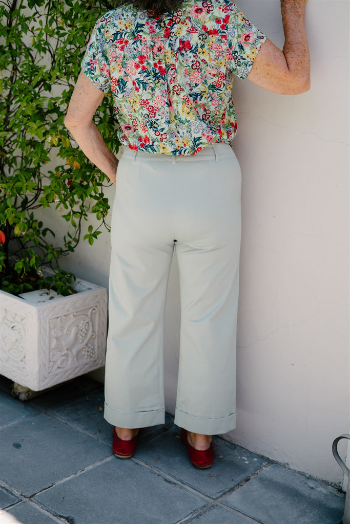 Mint Cropped Pants - desray.co.za