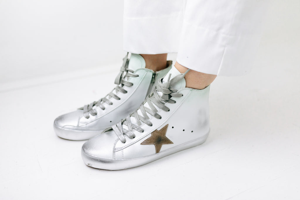 WHT HighTop Star Sneakers - desray.co.za