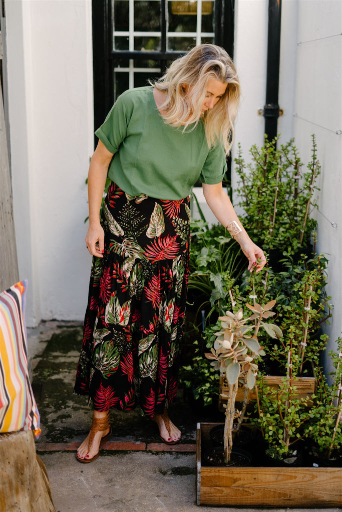 Floral 2 Tiered Skirt - desray.co.za
