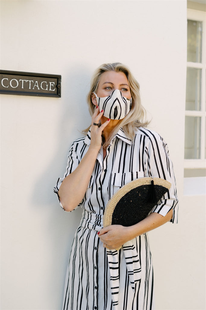 Stripe Linen Button Through Dress - desray.co.za
