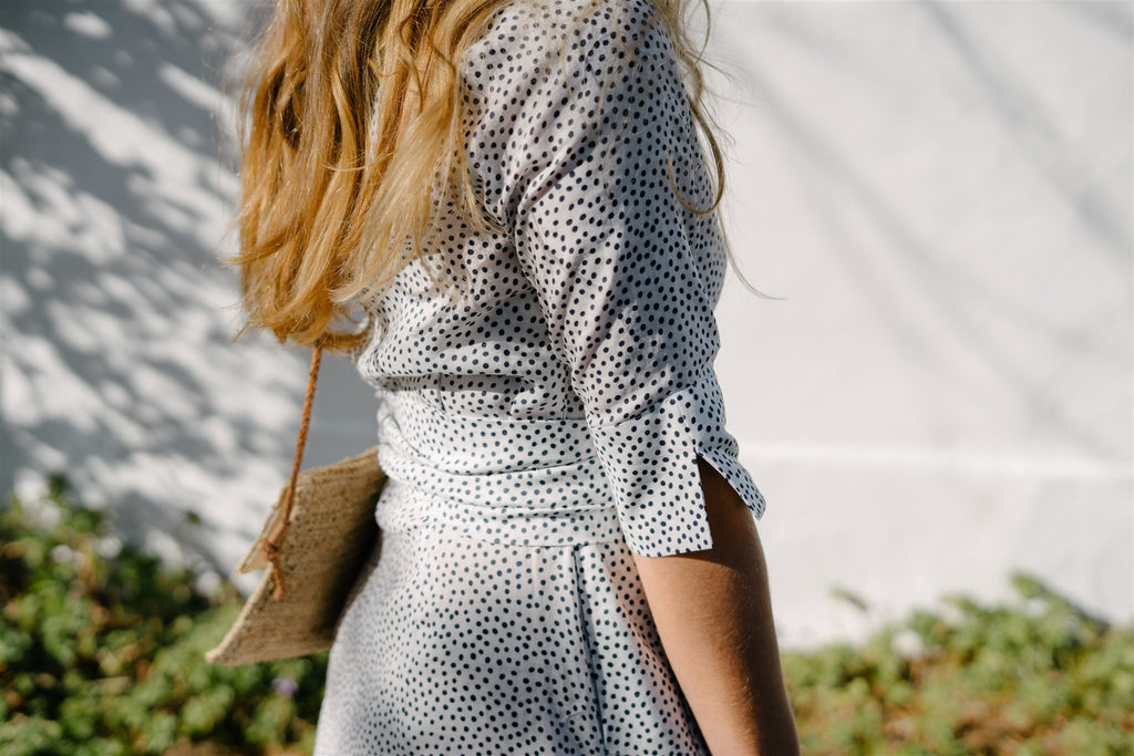 Polka Dot Button Through Dress - desray.co.za