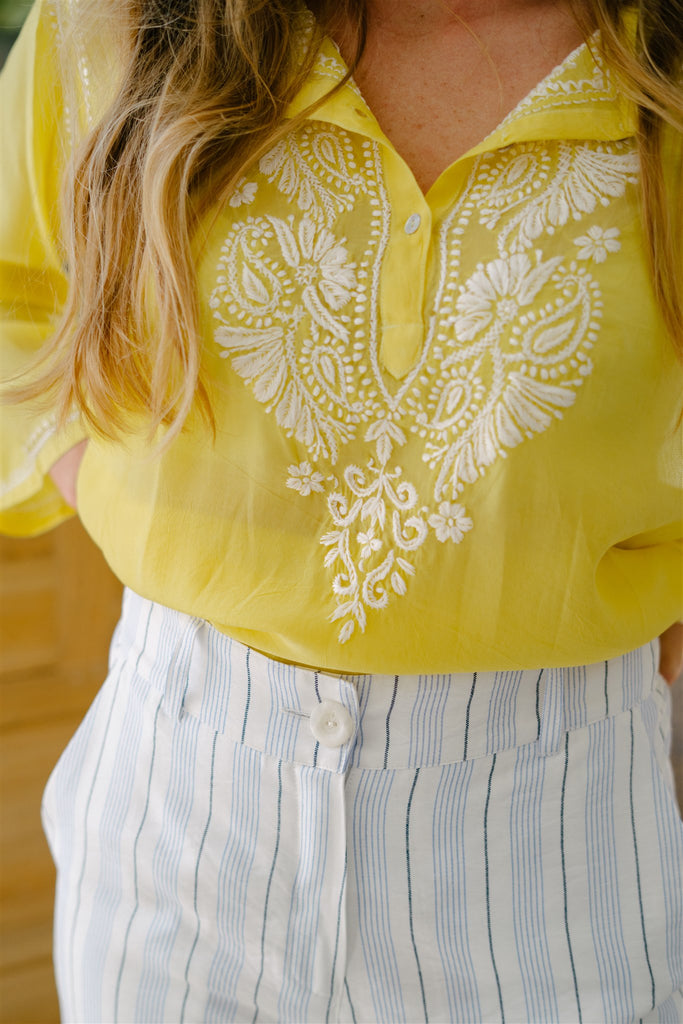 Yellow Kaftan Top