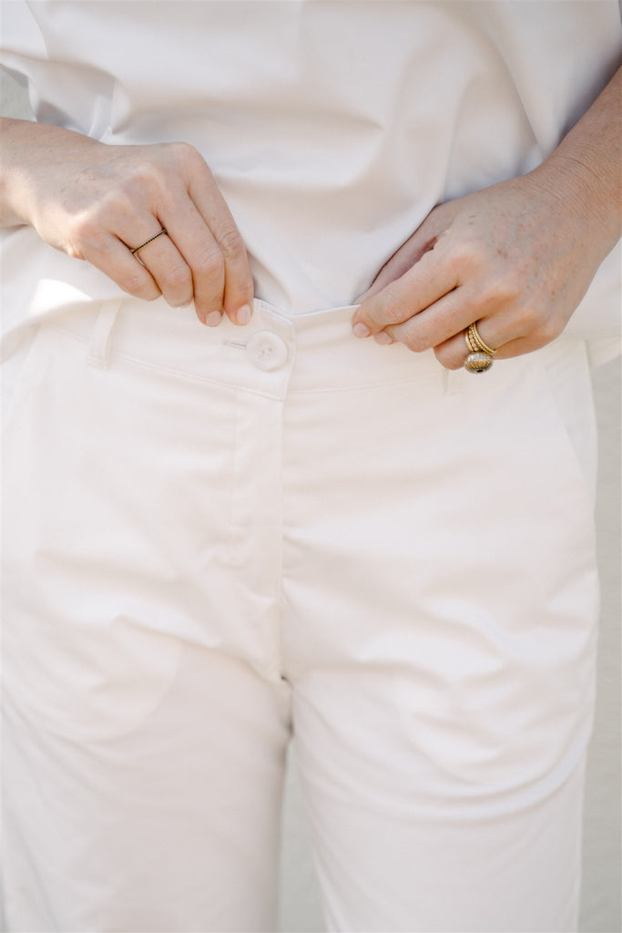 White Cropped Pants