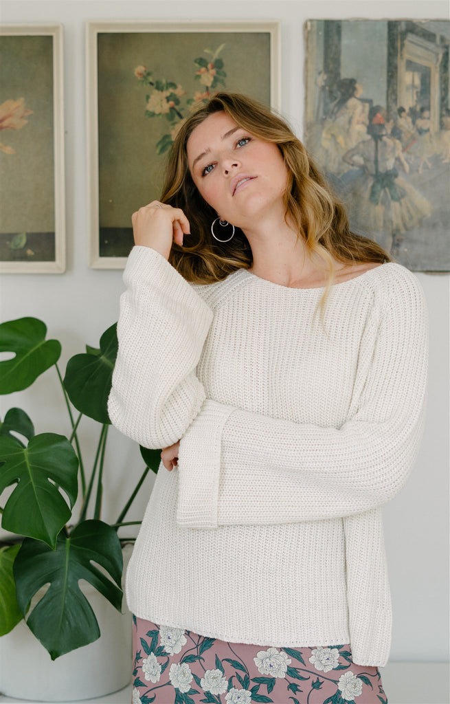 Ivory Chunky Pullover