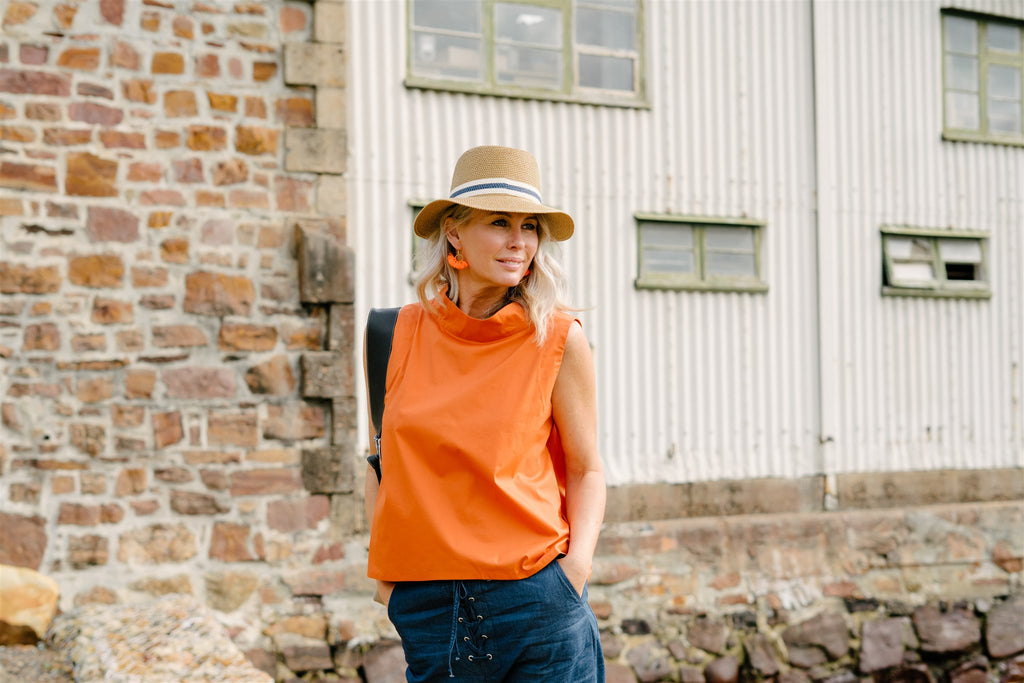 Orange Sleeveless Top - desray.co.za