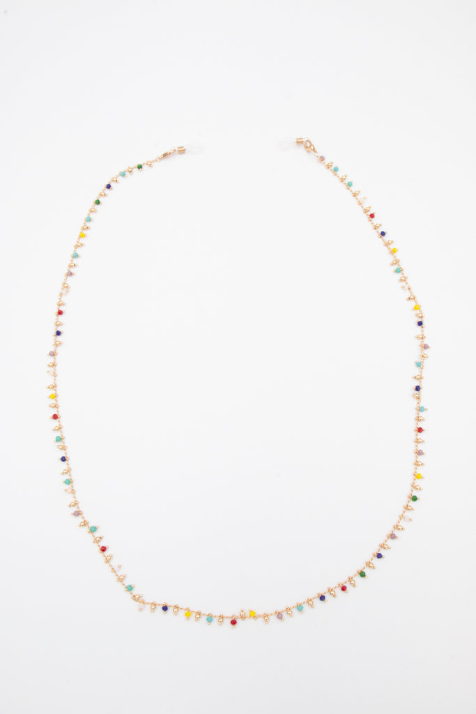 Multi Colour Bead Glass Chain - desray.co.za