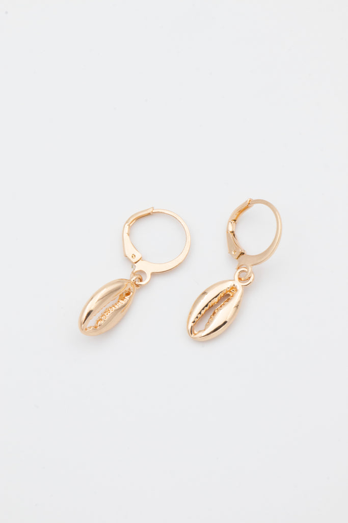 Gold Cowrie Earrings - desray.co.za