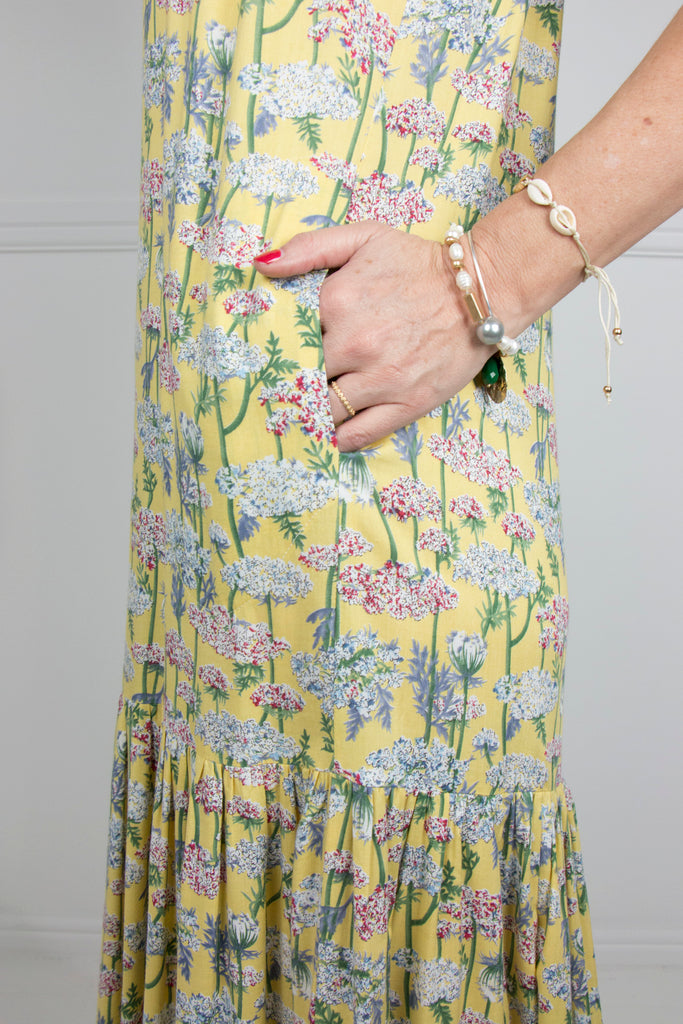 Yellow 2 Tier Dress - desray.co.za
