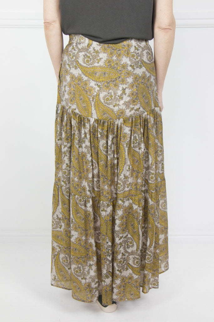 Yellow and Stone Paisley Skirt - desray.co.za