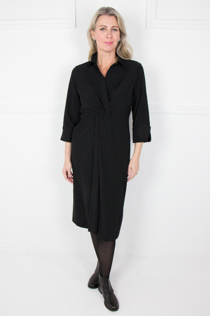 Black 3/4 Sleeve Dress - desray.co.za