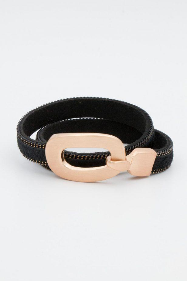 Black Buckle Bangle - desray.co.za