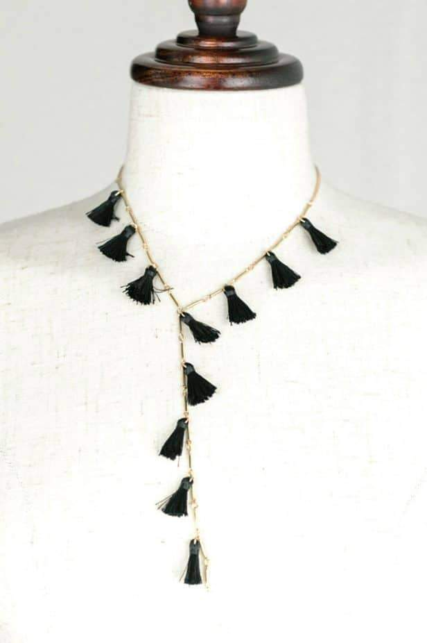 Black Tassel Necklace - desray.co.za