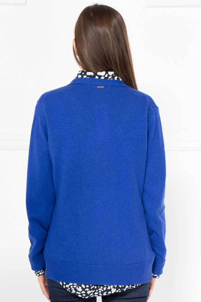 Blue Cashmere/Cotton Cardi - desray.co.za
