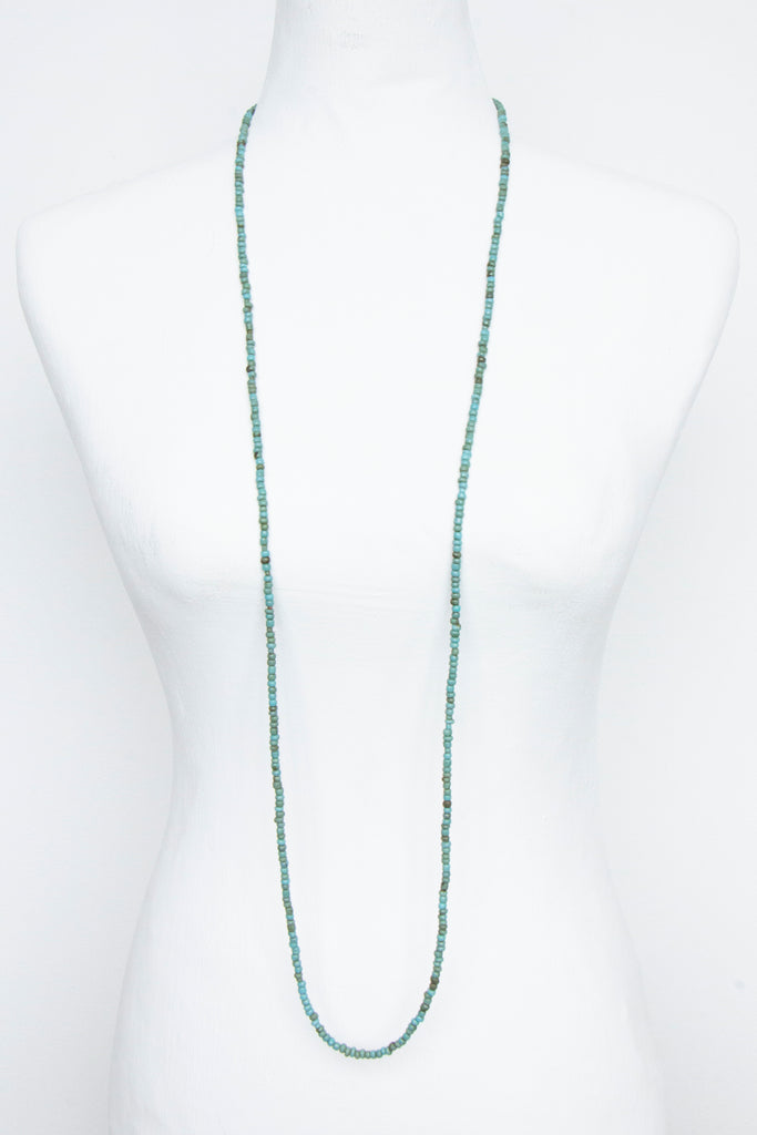 Blue String Bead Necklace - desray.co.za