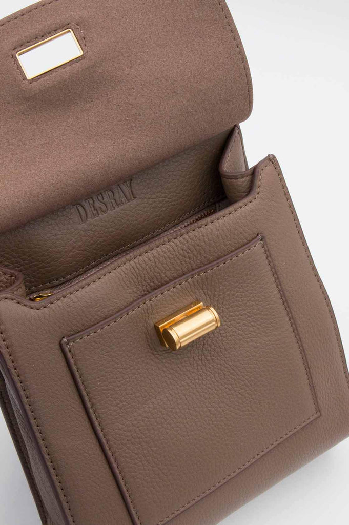 Brown Leather Sling Bag - desray.co.za