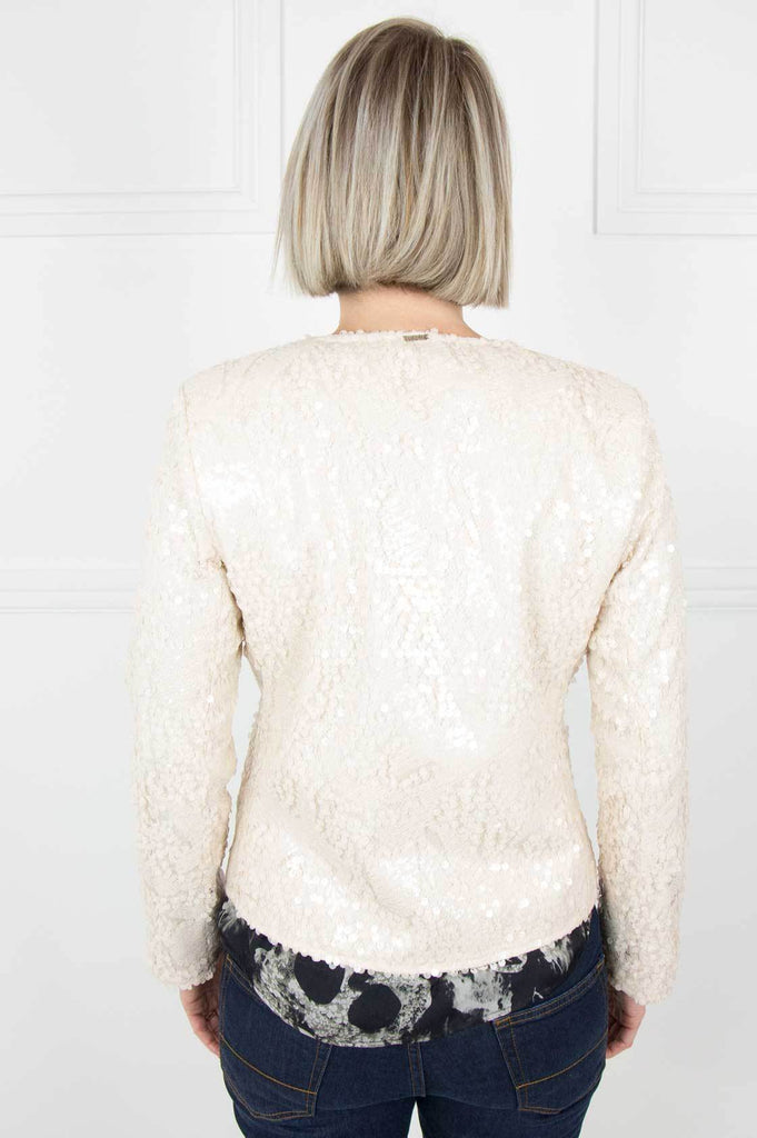 Cream Sequin Jacket - desray.co.za