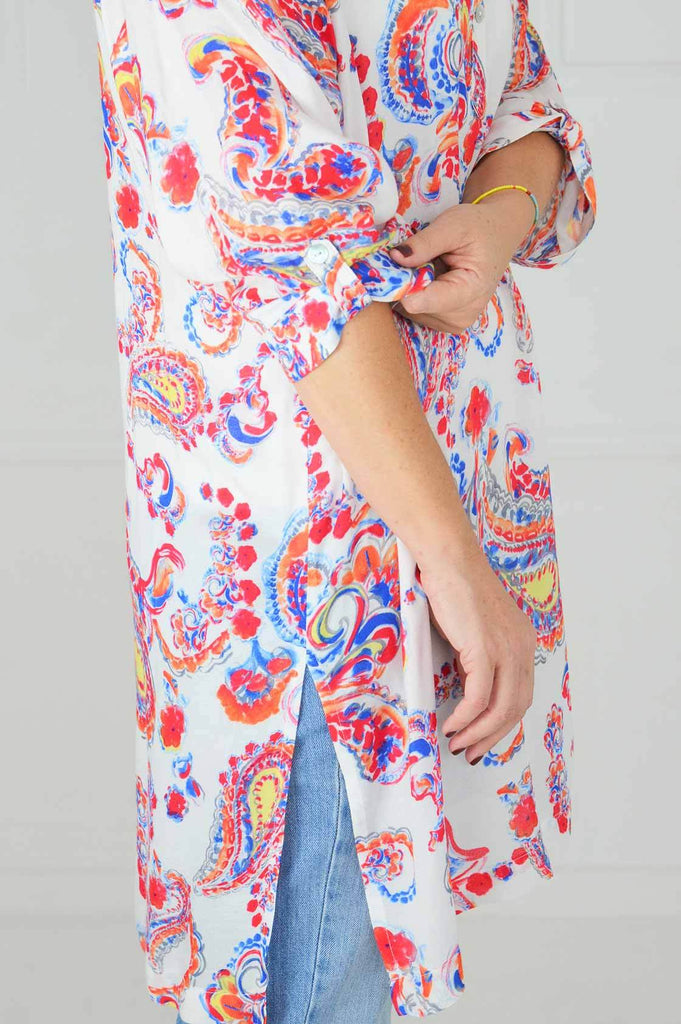 Floral Paisley Long Top - desray.co.za