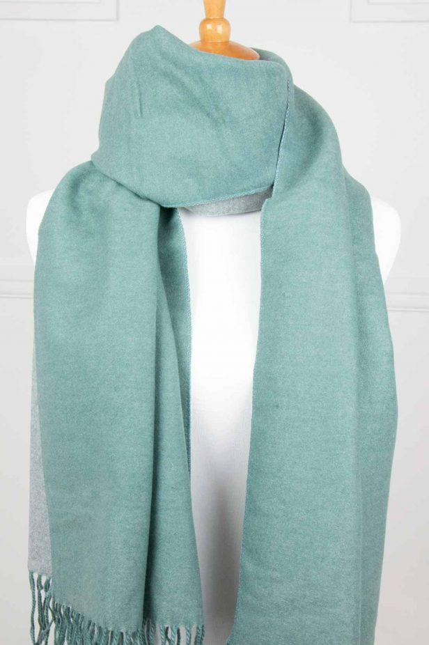 Green Cashmere Touch Scarf - desray.co.za