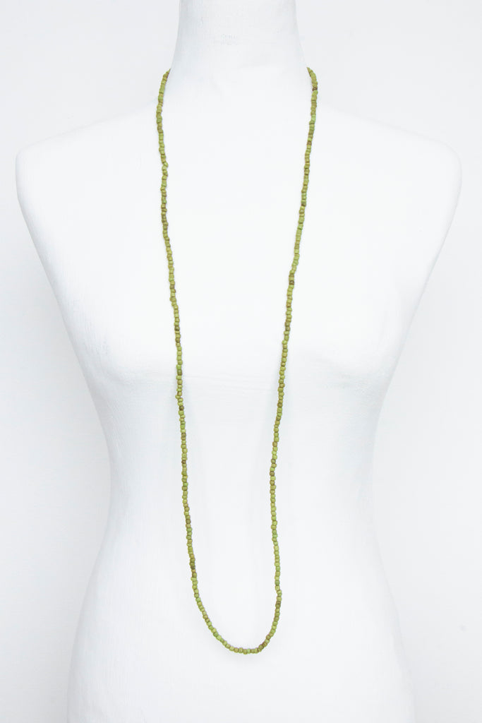 Green String Bead Necklace - desray.co.za